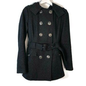 M60 Miss Sixty Small Wool Peacoat Jacket Charcoal